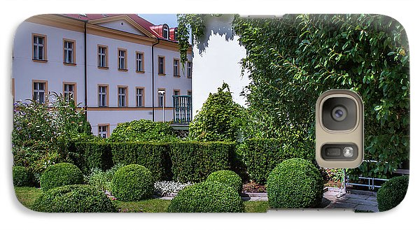 Galaxy Case featuring the photograph Prague Courtyards. Regular Style Garden by Jenny Rainbow