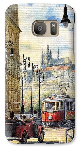 City Scenes Galaxy S7 Case - Prague Kaprova Street by Yuriy Shevchuk