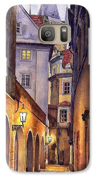 City Scenes Galaxy S7 Case - Prague Old Street  by Yuriy Shevchuk