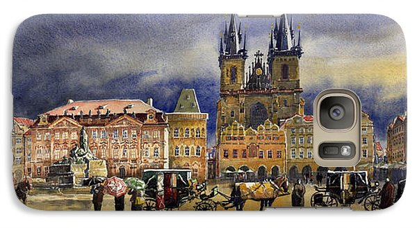 Prague Old Town Squere After Rain Galaxy Case by Yuriy  Shevchuk