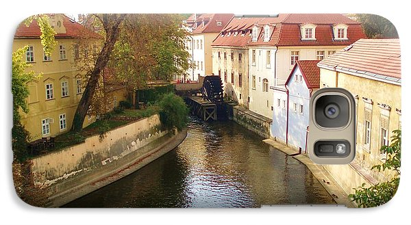 Galaxy Case featuring the photograph Prague River Scene by LeAnne Sowa