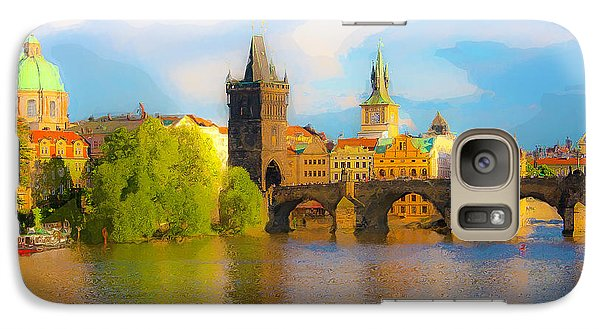 Galaxy Case featuring the photograph Praha - Prague - Illusions by Tom Cameron