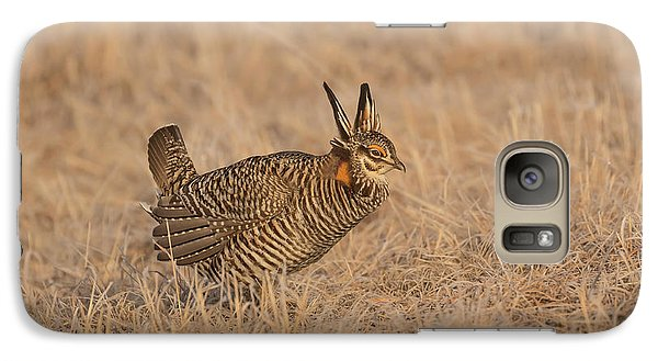 Galaxy Case featuring the photograph Prairie Chicken 6-2015 by Thomas Young