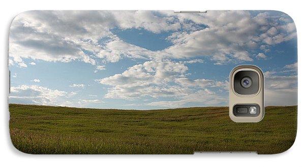 Galaxy Case featuring the photograph Prairie Field by Wilko Van de Kamp