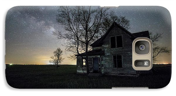 Galaxy Case featuring the photograph Prairie Gold And Milky Way by Aaron J Groen