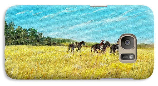 Galaxy Case featuring the painting Prairie Journey by Kathleen McDermott