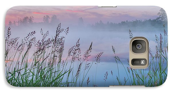 Galaxy Case featuring the photograph Prairie Pond Before Sunrise by Dan Jurak