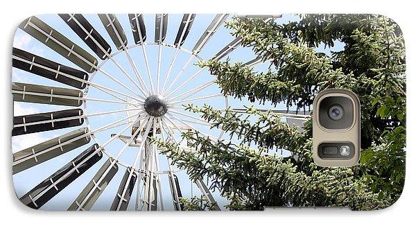 Galaxy Case featuring the photograph Prairie Windmill by Wilko Van de Kamp