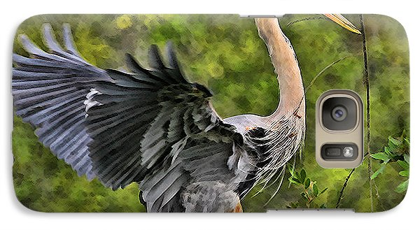 Galaxy Case featuring the photograph Prancing Heron by Shari Jardina