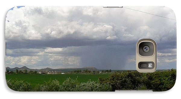 Galaxy Case featuring the photograph Prarie Rain Cloud by Deborah Moen