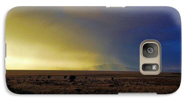 Galaxy Case featuring the photograph Prarie Rain Lund Utah by Deborah Moen