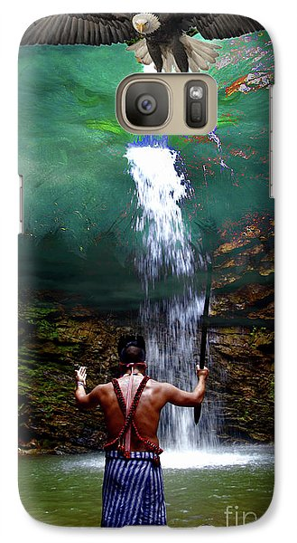 Galaxy Case featuring the photograph Praying To The Spirits by Al Bourassa