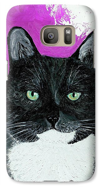 Galaxy Case featuring the painting Precious The Kitty by Ania M Milo