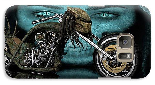 Galaxy Case featuring the digital art Predator Chopper by Louis Ferreira