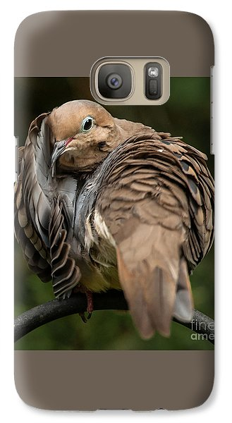 Galaxy Case featuring the photograph Preening Dove by Jim Moore