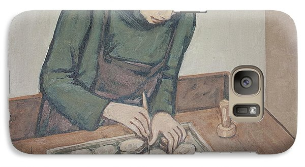 Galaxy Case featuring the painting Preparing Communion Bread by Olimpia - Hinamatsuri Barbu