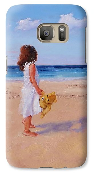 Galaxy Case featuring the painting Precious Moment by Laura Lee Zanghetti