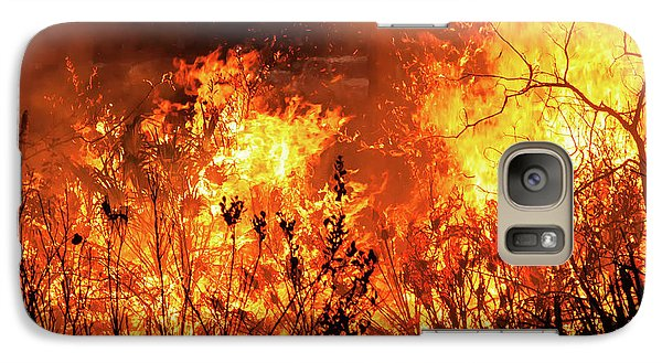 Galaxy Case featuring the photograph Prescribed Burn by Arthur Dodd