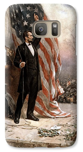 President Abraham Lincoln Giving A Speech Galaxy S7 Case