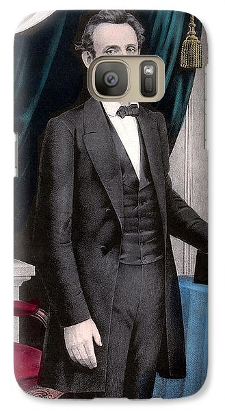 President Abraham Lincoln In Color Galaxy S7 Case by War Is Hell Store