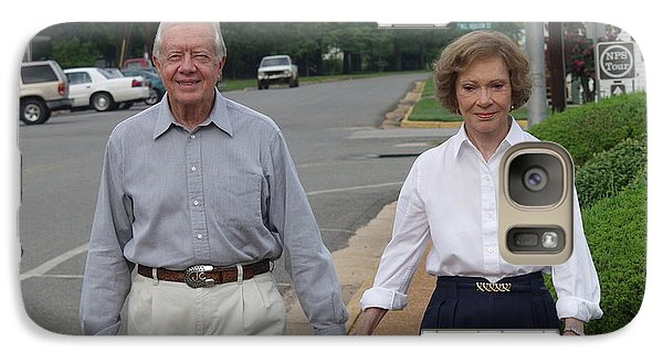 Galaxy Case featuring the photograph President And Mrs. Jimmy Carter by Jerry Battle
