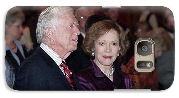 Galaxy Case featuring the photograph President And Mrs. Jimmy Carter Nobel Celebration by Jerry Battle