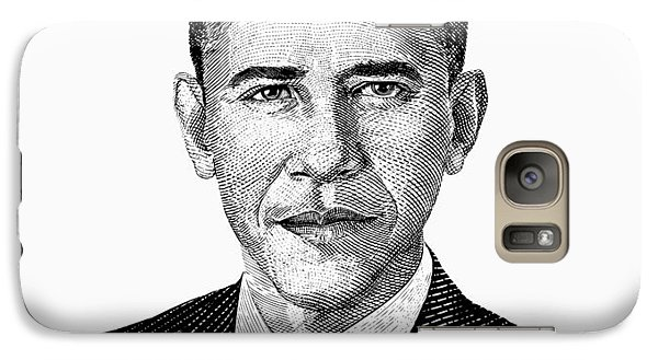 President Barack Obama Graphic Black And White Galaxy S7 Case