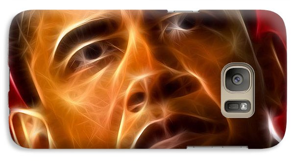President Barack Obama Galaxy Case by Pamela Johnson