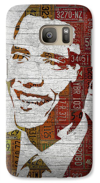 President Barack Obama Portrait United States License Plates Galaxy S7 Case