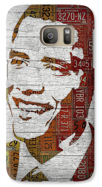 President Barack Obama Portrait United States License Plates Galaxy S7 Case by Design Turnpike