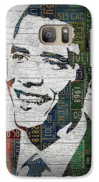 President Barack Obama Portrait United States License Plates Edition Two Galaxy S7 Case