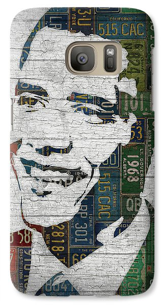 President Barack Obama Portrait United States License Plates Edition Two Galaxy S7 Case by Design Turnpike