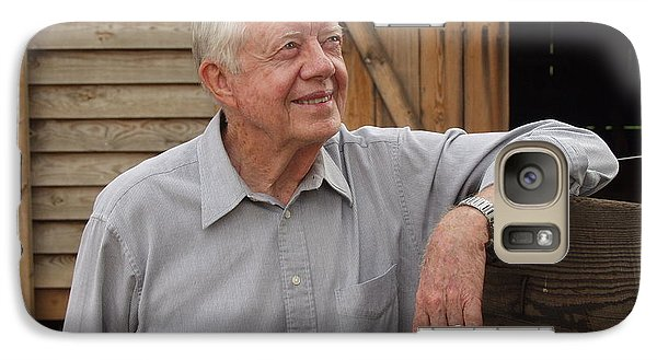 Galaxy Case featuring the photograph President Carter At His Boyhood Farm by Jerry Battle