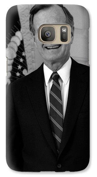 President George Bush Sr Galaxy S7 Case by War Is Hell Store