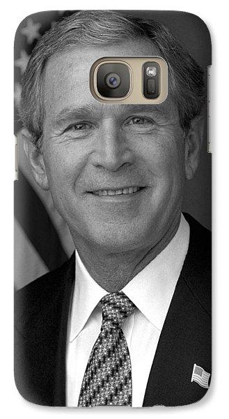 George Bush Galaxy S7 Case - President George W. Bush by War Is Hell Store
