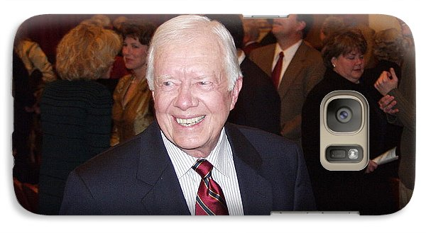 Galaxy Case featuring the photograph President Jimmy Carter - Nobel Peace Prize Celebration by Jerry Battle