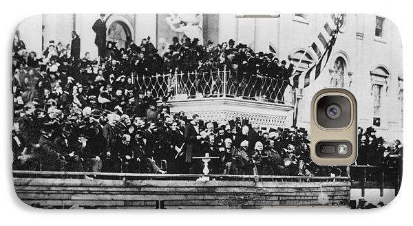 Galaxy Case featuring the photograph President Lincoln Gives His Second Inaugural Address - March 4 1865 by International  Images