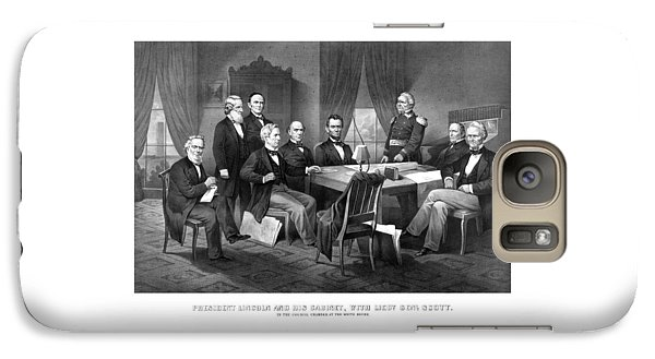 Salmon Galaxy S7 Case - President Lincoln His Cabinet And General Scott by War Is Hell Store