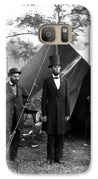 Galaxy Case featuring the photograph President Lincoln Meets With Generals After Victory At Antietam by International  Images