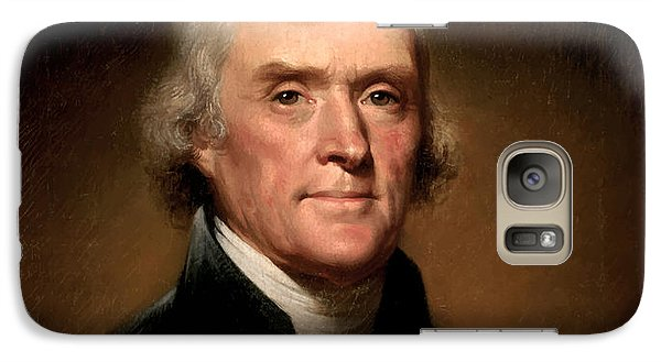 Politicians Galaxy S7 Case - President Thomas Jefferson  by War Is Hell Store