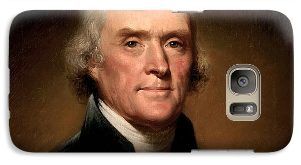 President Thomas Jefferson  Galaxy S7 Case by War Is Hell Store