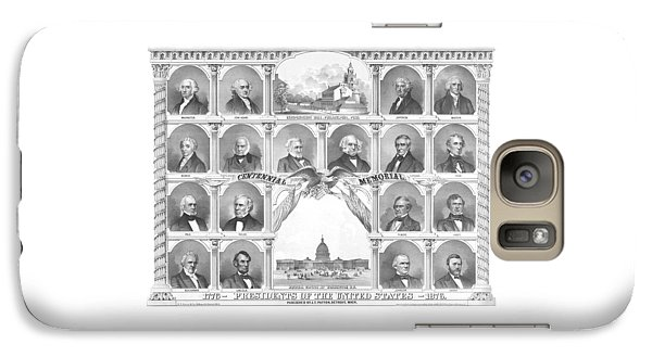 Politicians Galaxy S7 Case - Presidents Of The United States 1776-1876 by War Is Hell Store