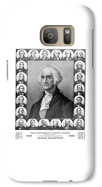 Politicians Galaxy S7 Case - Presidents Of The United States 1789-1889 by War Is Hell Store