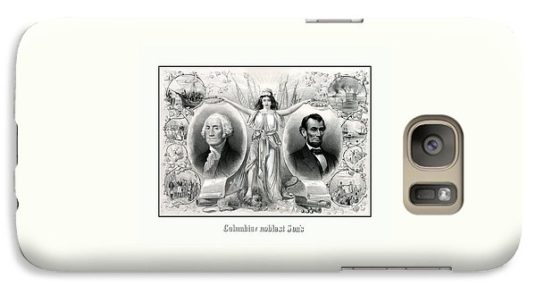 Abraham Lincoln Galaxy S7 Case - Presidents Washington And Lincoln by War Is Hell Store