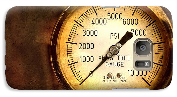 Galaxy Case featuring the photograph Pressure Gauge by Charuhas Images