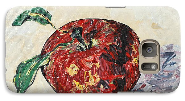 Galaxy Case featuring the painting Pretty Apple by Reina Resto