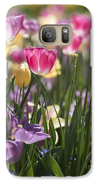 Pretty In Pink Tulips Galaxy S7 Case