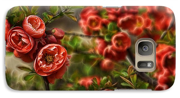 Galaxy Case featuring the photograph Pretty In Red by Cameron Wood