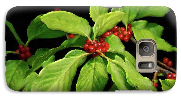Galaxy Case featuring the photograph Pretty Little Red Berries by Lois Bryan