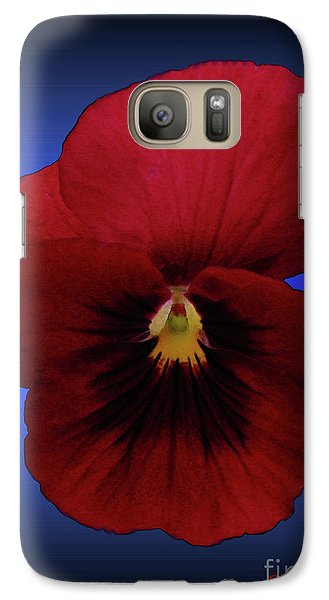 Galaxy Case featuring the photograph Pretty Pansy by Donna Brown